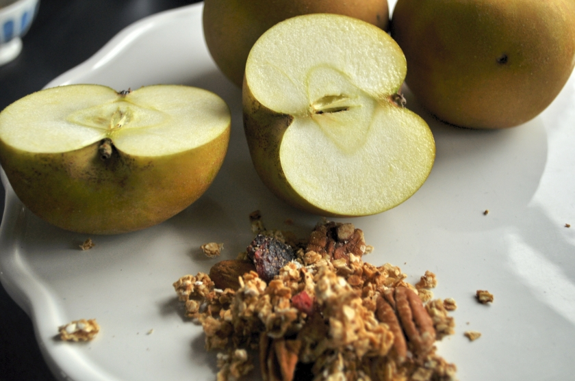 apples and granola