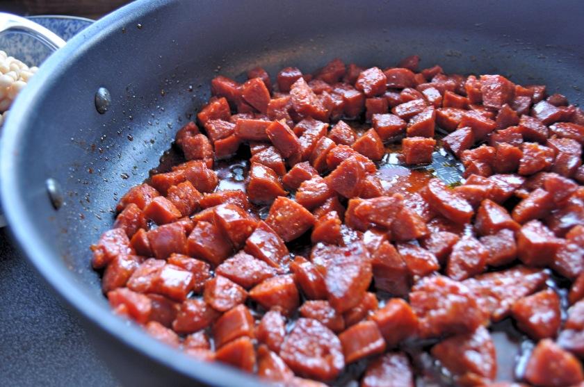 fried chorizo