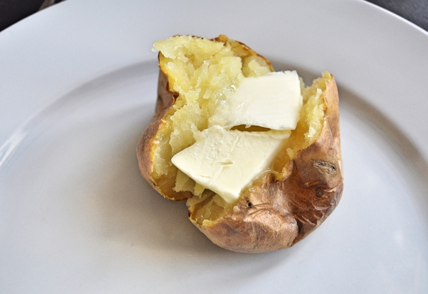 baked potato and butter