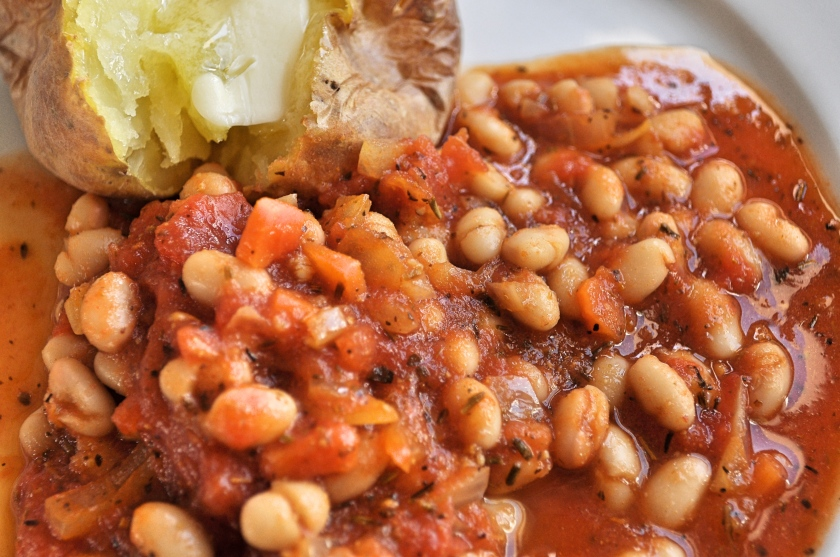 beans and potato