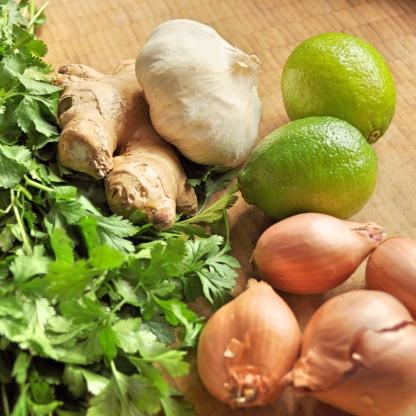 garlic lime shallots