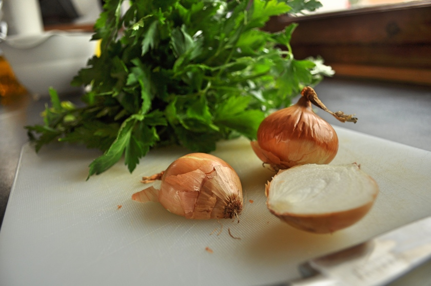 parsley and onion
