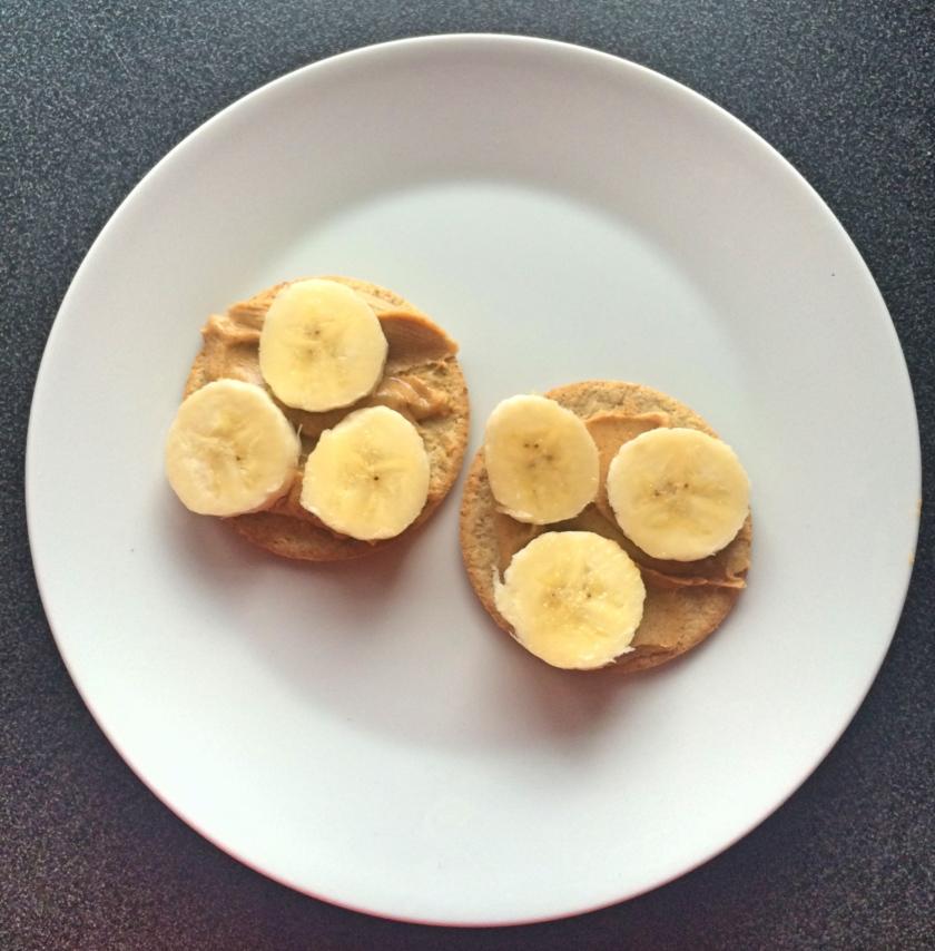 banana peanut butter oatcakes